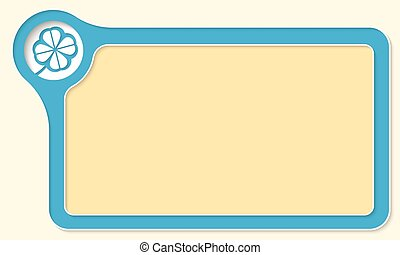 Vector frame for your text and cloverleaf