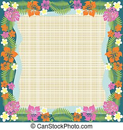 Abstract tropical frame - This graphic is abstract tropical...