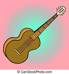 Guitar Pop art vector