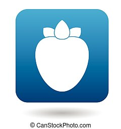 Persimmon icon in flat style on a white background