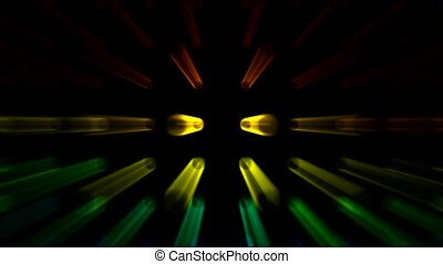 color stage rotate neon rays light