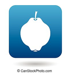 Quince icon in flat style on a white background