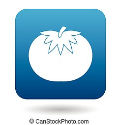Tomato icon in flat style on a white background