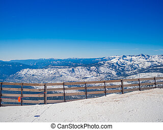 Snow landscape on Mammoth Mountain in California, US - Snow...