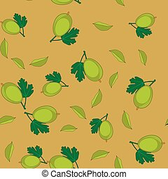 Gooseberry cartoon seamless texture 655 - Gooseberry cartoon...