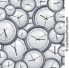 clocks and time background - lots and lots clocks for a...