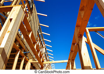 New framing construction of residential house