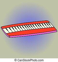 Piano Pop art vector