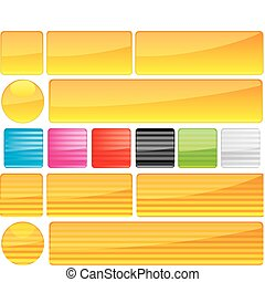 Set of unusual multicolored buttons, part 11, vector illustration