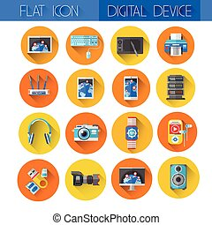 Digital Devices Icon Set Collection