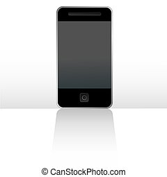 Mobile touch phone vector
