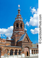 View of old church in Yaroslavl, Russia
