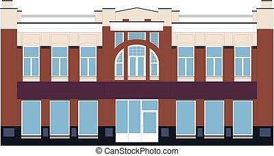 Illustration of an Old Building