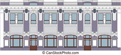 XIX Century Building - Vector Flat Illustration of an XIX...