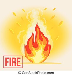 Symbol of cartoon fire