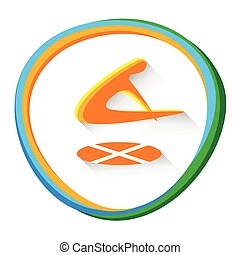 Trampoline Gymnastics Sport Competition Icon Vector...