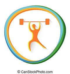 Weightlifting Sport Competition Icon - Weightlifting Sport...