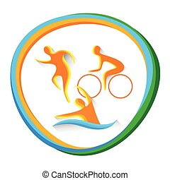 Triathlon Sport Competition Icon - Triathlon Sport...