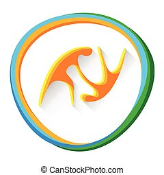 Judo Sport Competition Icon - Judo Sport Game Logo...