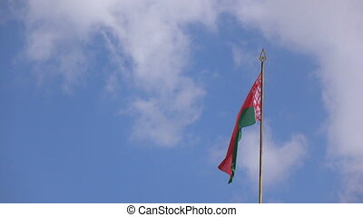 Flag of Republic of Belarus - Waving flag of Republic of...