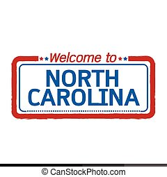 Welcome to NORTH CAROLINA of US State illustration design