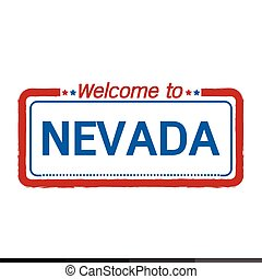 Welcome to NEVADA of US State illustration design