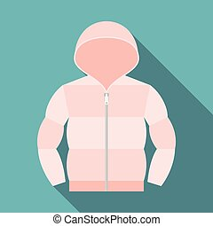 Vector duvet coat, flat design