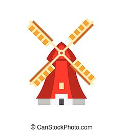Holandaise Windmill Simplified Icon - Holandaise Windmill...