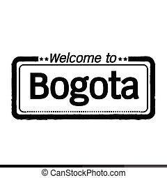 Welcome to Bogota city illustration design