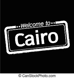 Welcome to Cairo city illustration design