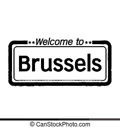 Welcome to Brussels city illustration design