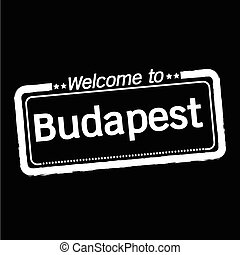 Welcome to Budapest city illustration design