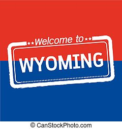 Welcome to WYOMING of US State illustration design
