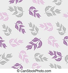 Seamless pattern with colored leaves.