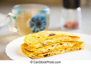 tradicional, mexicano, Quesadillas