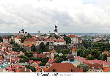 Beautiful panorama of Tallin, Estonia - Beautiful panorama...