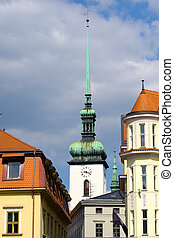 Tower in old city of Brno, Czech Republic