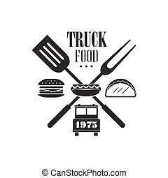Food Truck Label Design - Food Truck Logo Graphic Design...