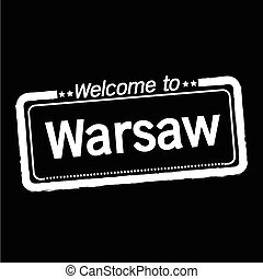 Welcome to Warsaw City illustration design