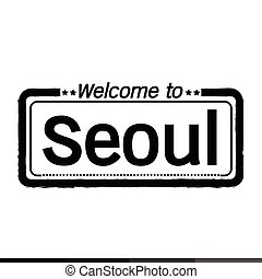 Welcome to Seoul City illustration design