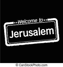 Welcome to Jerusalem city illustration design