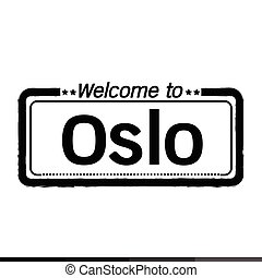 Welcome to Oslo City illustration design