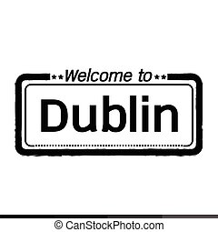 Welcome to Dublin city illustration design