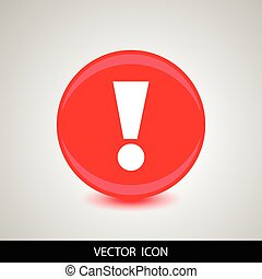 icon with an exclamation point - A red icon with an...