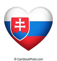 Slovakia Insignia Heart Shape
