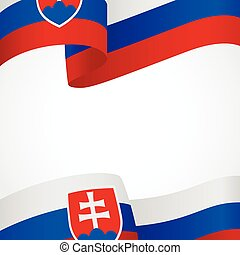 Decoration of Slovakia insignia on white