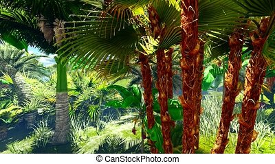 Tropical jungle animation