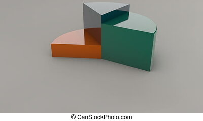 Circle diagram for presentation, Pie chart. 3D rendered