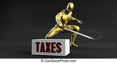 Reduce Taxes and Minimize Business Concept