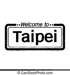 Welcome to Taipei City illustration design